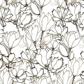 Floral Sketches  Smoky Black