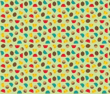 Cute Mushrooms fabric by shereeboyd on Spoonflower - custom fabric