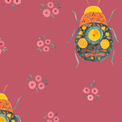Folk Bugs and Flowers 4.3