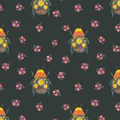 Folk Bugs and Flowers 4.5