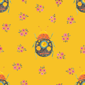 Folk Bugs and Flowers 4.7