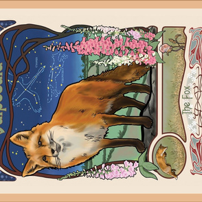 Vulpecula the Fox Tea Towel