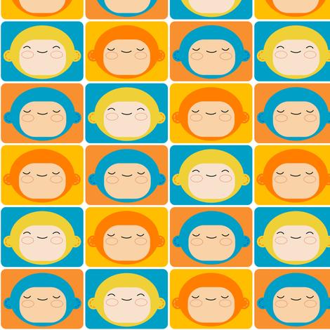 Monkey Squares fabric by shereeboyd on Spoonflower - custom fabric