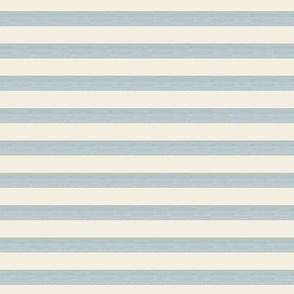 Shear blue on Ecru / off white - light blue Stripes