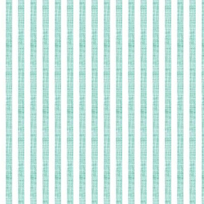 "aqua linen 1/4"" vertical stripes"