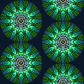 Blue Green Bird Mandala SF