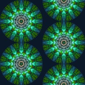 Blue Green Bird Mandala SF