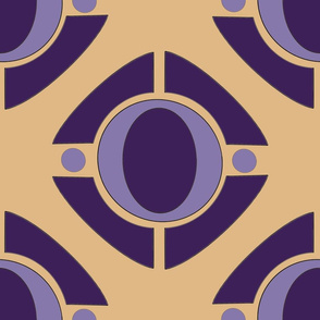 Royal Purple Iris on Yellow