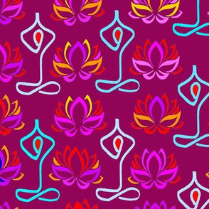 Lotus Flower Namaste Yoga Design