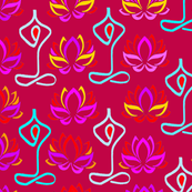 Lotus Yoga Design - Magenta