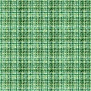 Mini Prints: Soft and Green Teeny Tiny Emerald Plaid