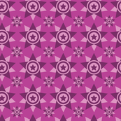 Geometrical star design seamless pattern