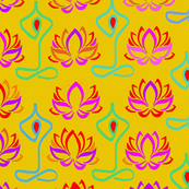 Lotus Flower Namaste Yoga Design - Goldenrod