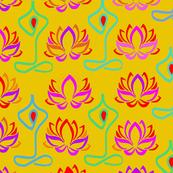 Lotus Flower Namaste Yoga Design - Goldenrod