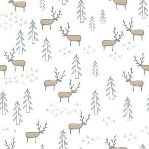 Doodle deer woods