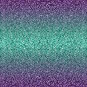Aqua Purple Ombré Glitter