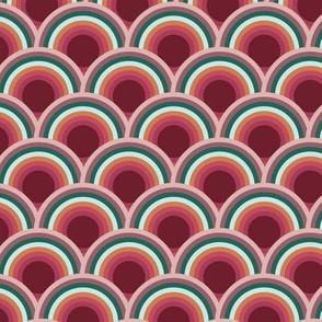 scallop scale circle seamless repeat pattern design