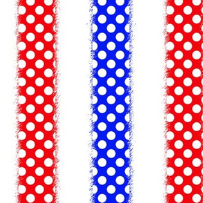 Red White and Blue Polka Dotted Stripes