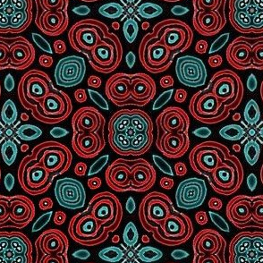 Turquoise Coral Tile