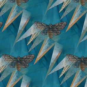 Moth Stories Teal Blue
