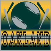 Oakland Athletics Baseball Team Colors City Ball Bats