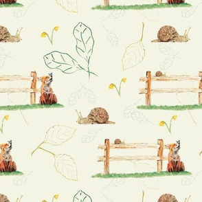 Fox and snail on lemon