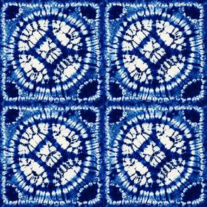 Indigo Shibori - 21x21