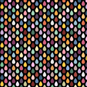 Colorful Droplets on Black medium scale