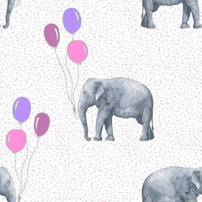 Elephant balloon pink textured