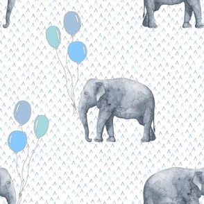 Elephant balloon blue textured