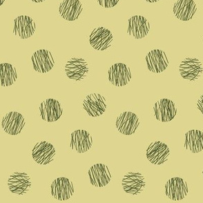 lines and circles - yellow-olive