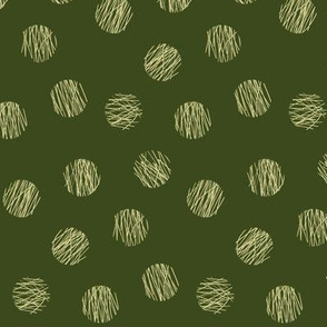 lines and circles - olive-yellow