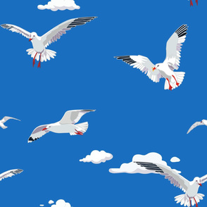 Seagulls Cloud Jumbo Blue