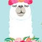 micro llama with flowers