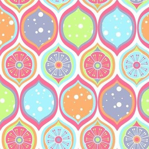 Sherbet Colored Flower Ogee Pattern