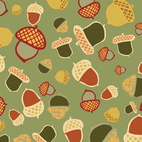 acorn woodland seamless repeat pattern design. Perfect for textile design or home decor.