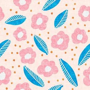summer floral - pink on pink - LAD19