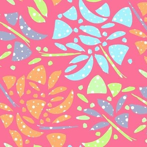 Abstract Floral in Bright Colors