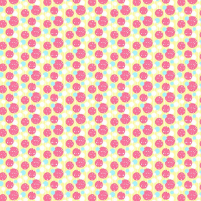 Lollipop Polka Dot Stripes in Pink and Yellow