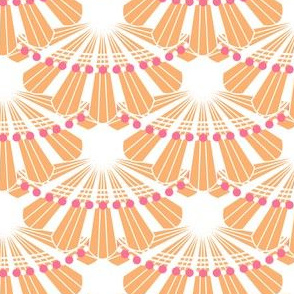Orange and Pink Wave Scallops