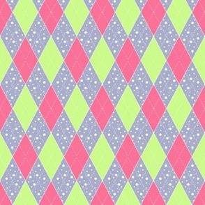 Small Argyle Bunting in Pink and Green