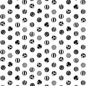 Beach Balls in Black and White