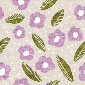 summer floral - purple - LAD19