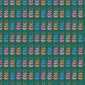 floral plant graphic seamless repeat pattern design. Perfect for home decor