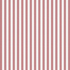Narrow Red French Ticking Stripe