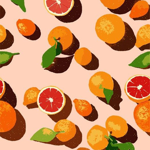 Oranges on an orange background
