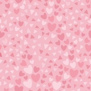 Pink Hearts and Triangles
