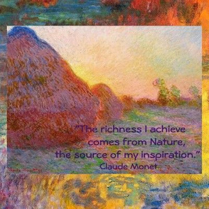 Monet Haystack and Nature quote