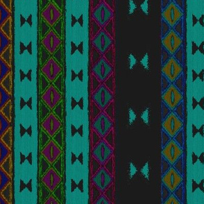Afrika multi stripe teal