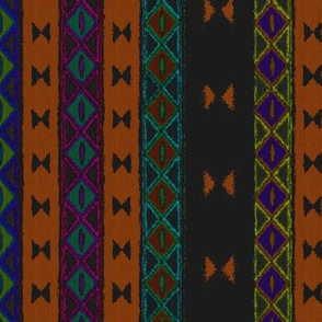 Afrika multi stripe Amber
